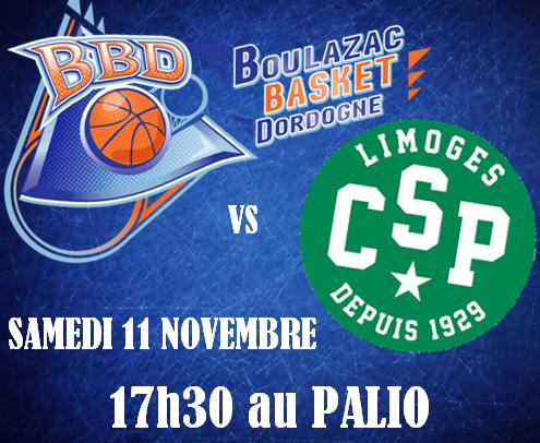 [Information BBD vs LIMOGES] BBD vs Limoges le 11 nov. à 17h30 !