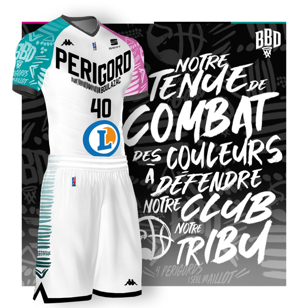 Boulazac Maillot Officiel Ext/érieur 2019-2020 Maillot de Basketball Mixte