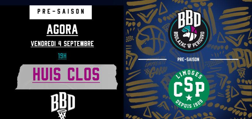 Boulazac vs Limoges en match de présaison : Vendredi 4 septembre