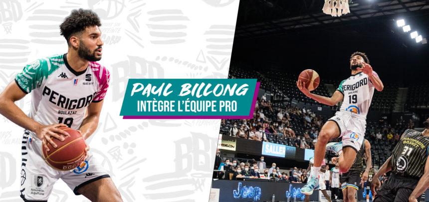 Paul Billong intègre l'équipe Pro